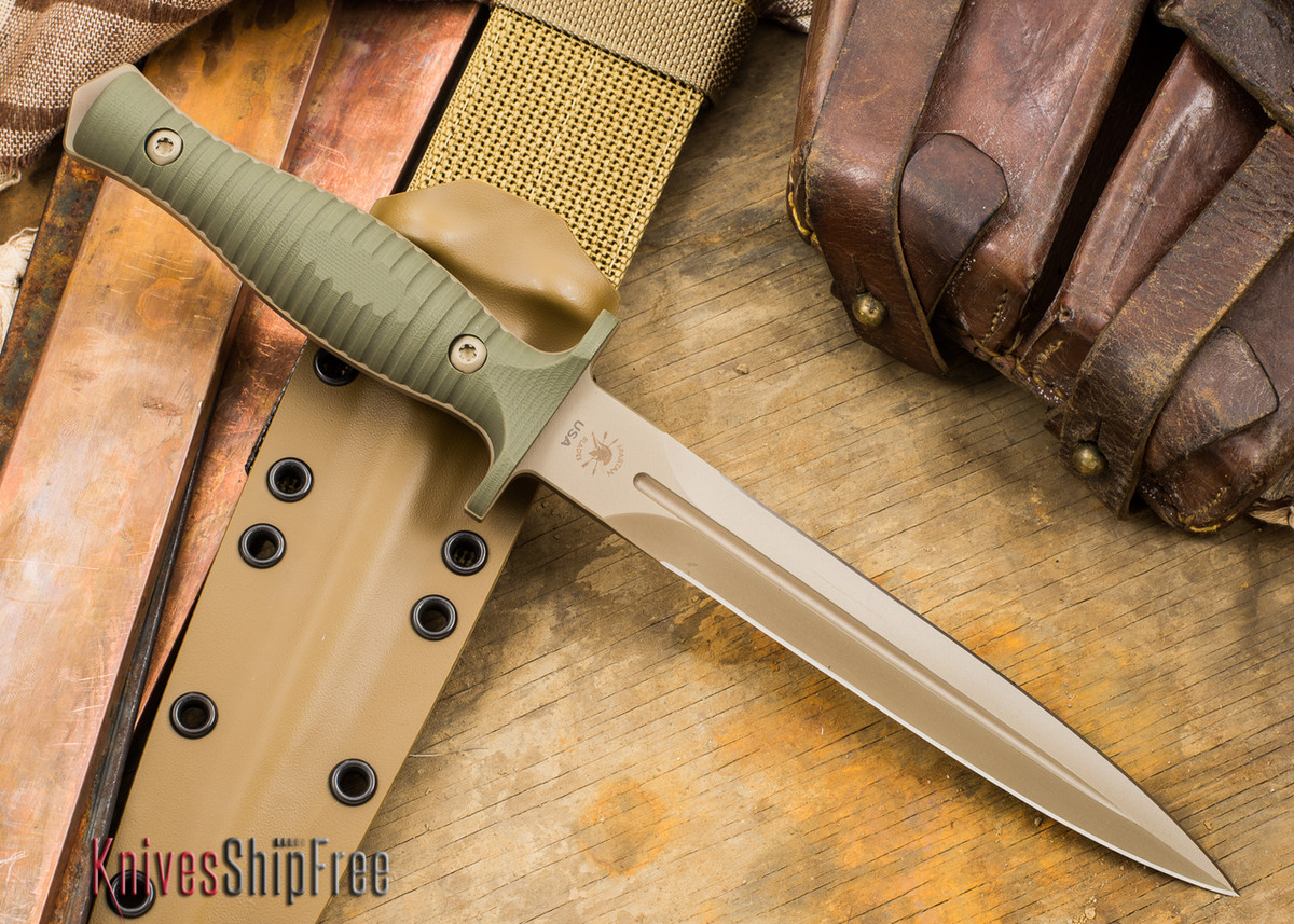 Spartan Blades: Spartan George V-14 - Flat Earth Blade - Green G-10 primary image