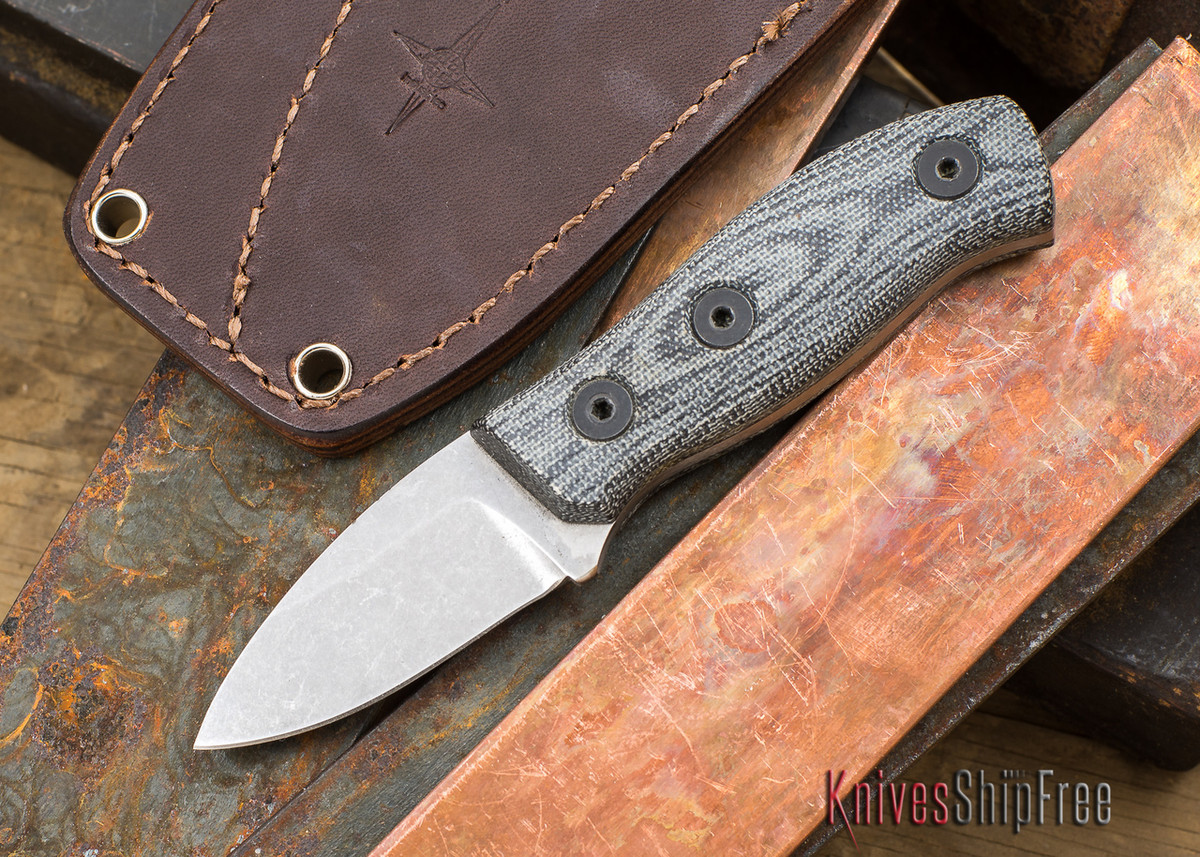 Fiddleback Forge: Production Runt - Black Canvas Micarta - S35VN