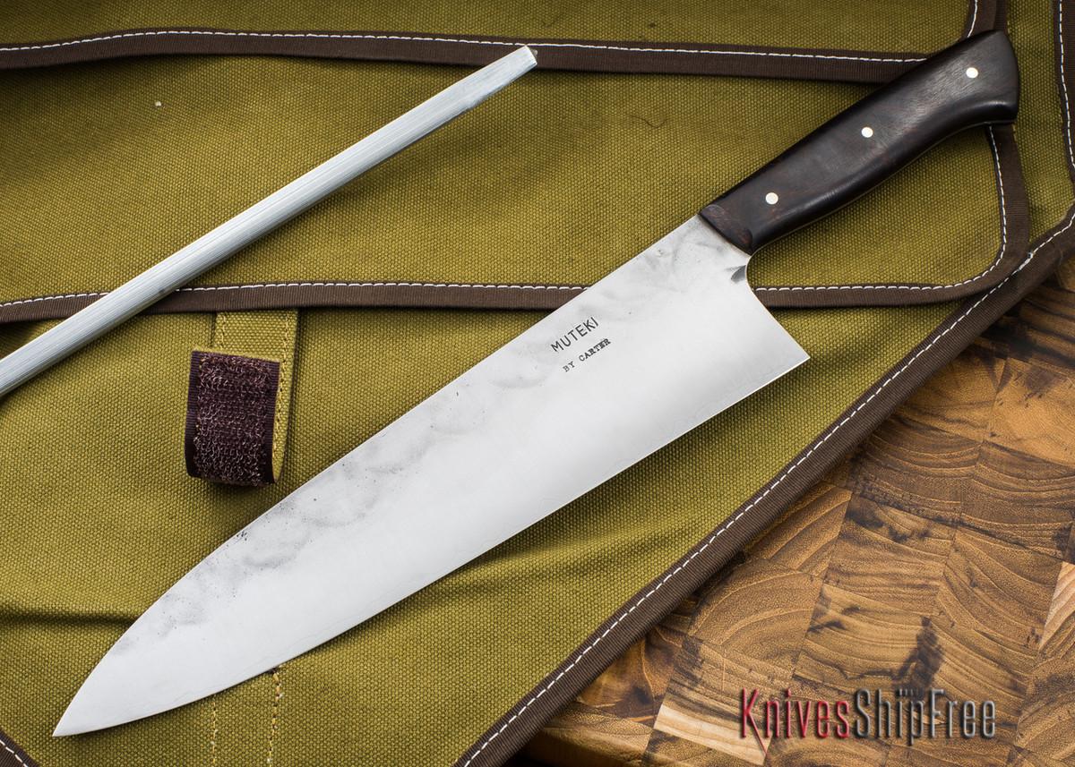 Carter Cutlery: Muteki - Extra Wide Gyuto Kitchen Knife - Desert Ironwood - 60109 primary image