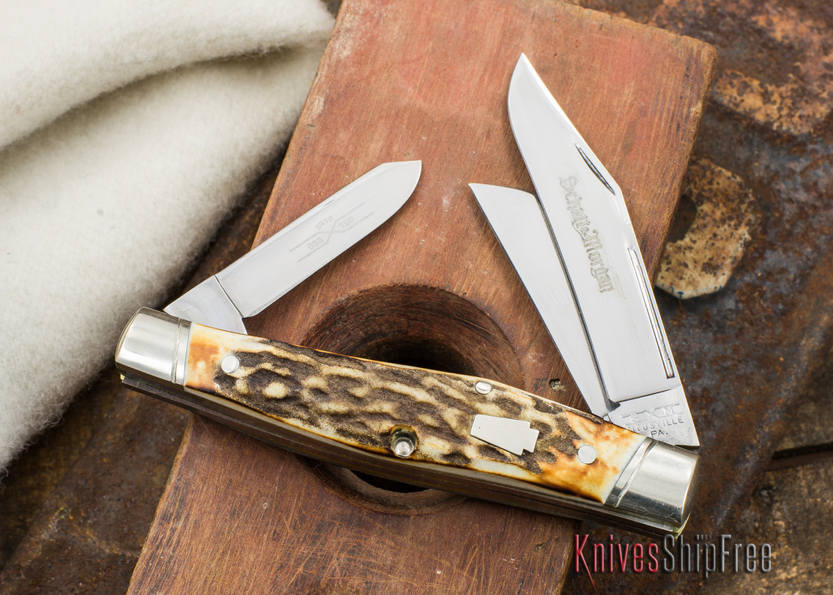 Schatt & Morgan Keystone: Reverse Gunstock - Genuine Stag - 033150 - C primary image