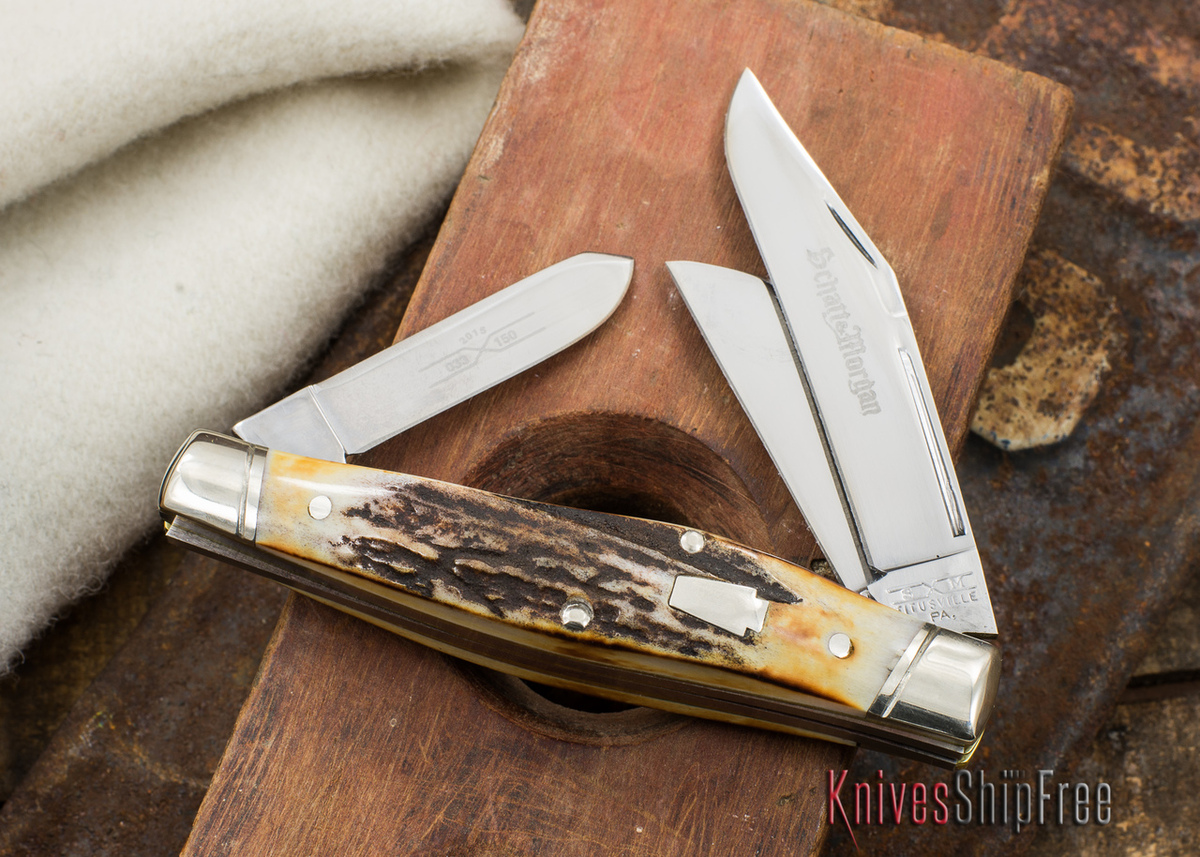 Schatt & Morgan Keystone: Reverse Gunstock - Genuine Stag - 033150 - I primary image