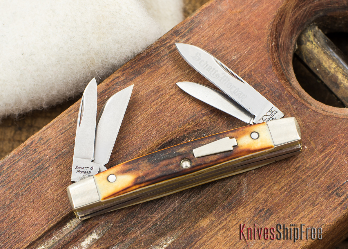 Schatt & Morgan: Keystone Series - Mini-Congress - 4-Blade - Stag - 070908 primary image