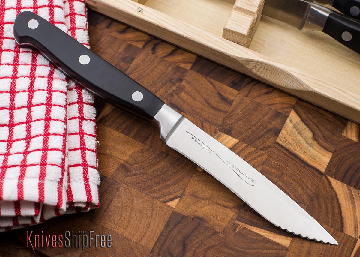 Exceptional Kitchen Cutlery: Recurve Steak Knife   4 Piece Set