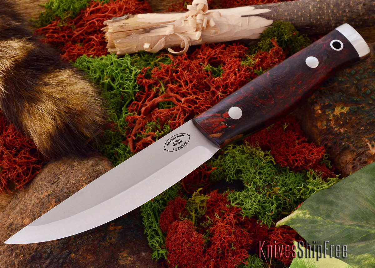 American Knife Company: Forest II - Black Scarlet Maple Burl primary image