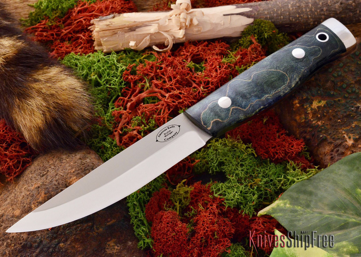 American Knife Company: Forest II - Blue Tigertail Maple Burl primary image
