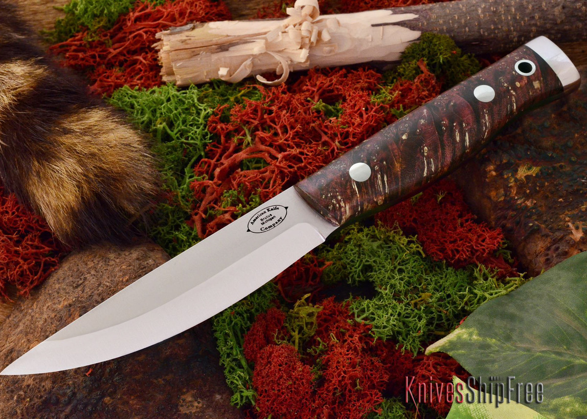 American Knife Company: Forest II - Brown & Gold Maple Burl primary image