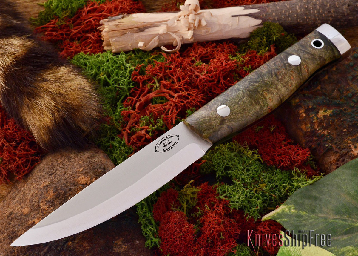 American Knife Company: Forest II - Green & Gold Elder Burl primary image
