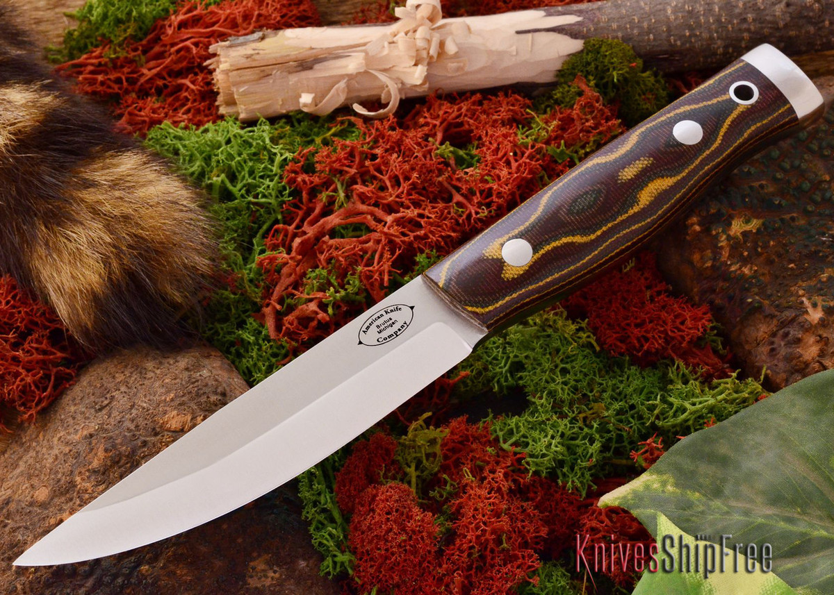 American Knife Company: Forest II - Snakeskin Burgundy Canvas Micarta primary image
