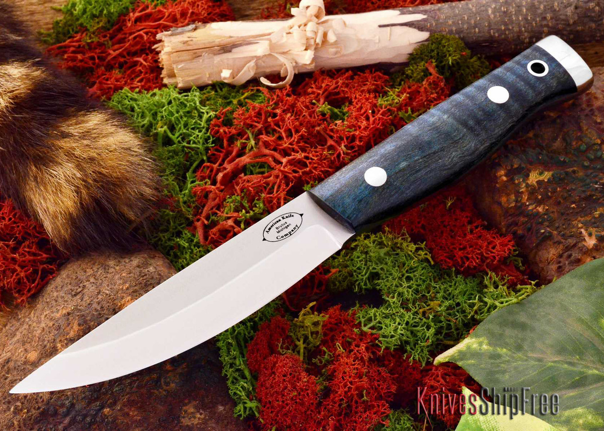 American Knife Company: Forest II - Teal Tigertail Maple Burl primary image