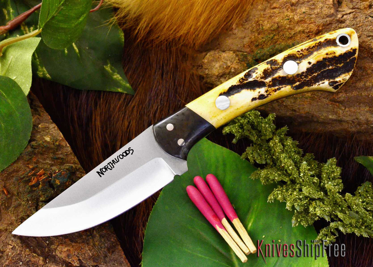 Northwoods Knives: Iron River - Antique Stag Bone primary image