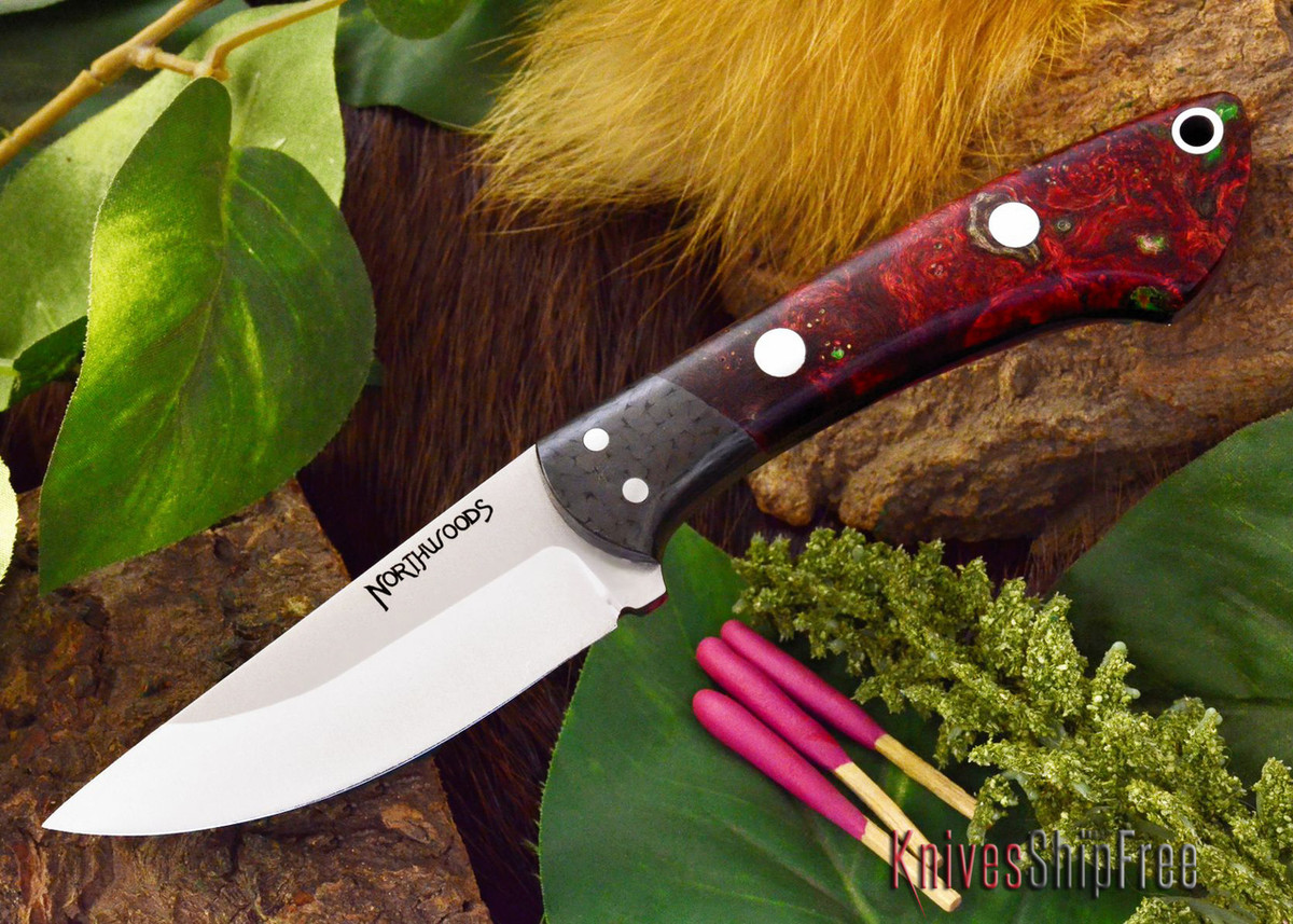 Northwoods Knives: Iron River - Black & Scarlet Elder Burl primary image