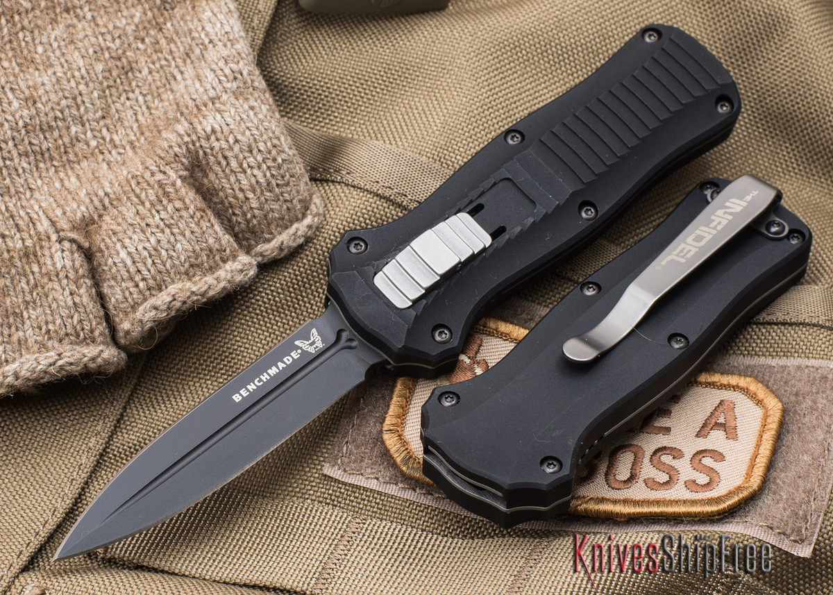Benchmade Knives: 3350BK Mini-Infidel - OTF Auto - Black Blade primary image