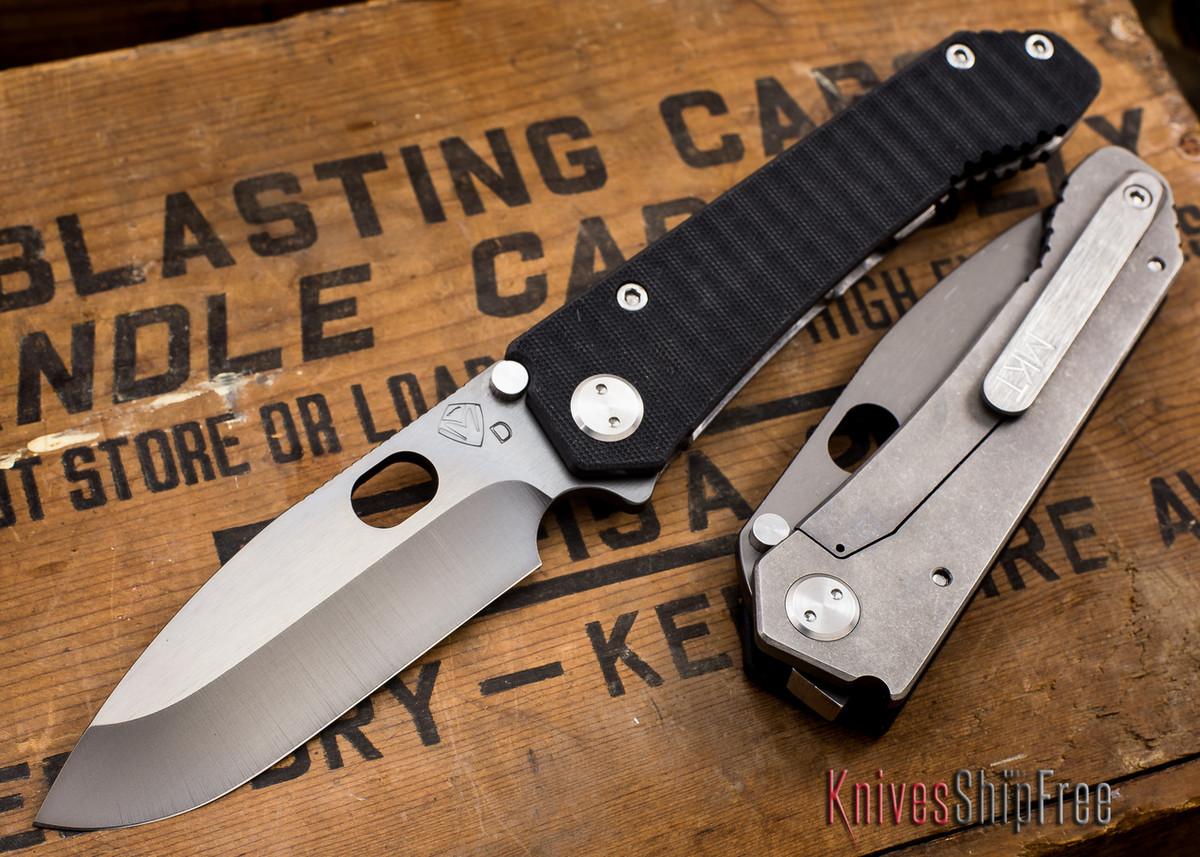 Medford Knife & Tool: 187 DP - Black G-10 / Ti - Gray PVD primary image
