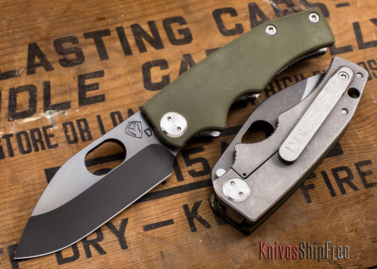 Medford Knife & Tool: 187 RMP - OD Green G-10 / Ti - Gray PVD primary image