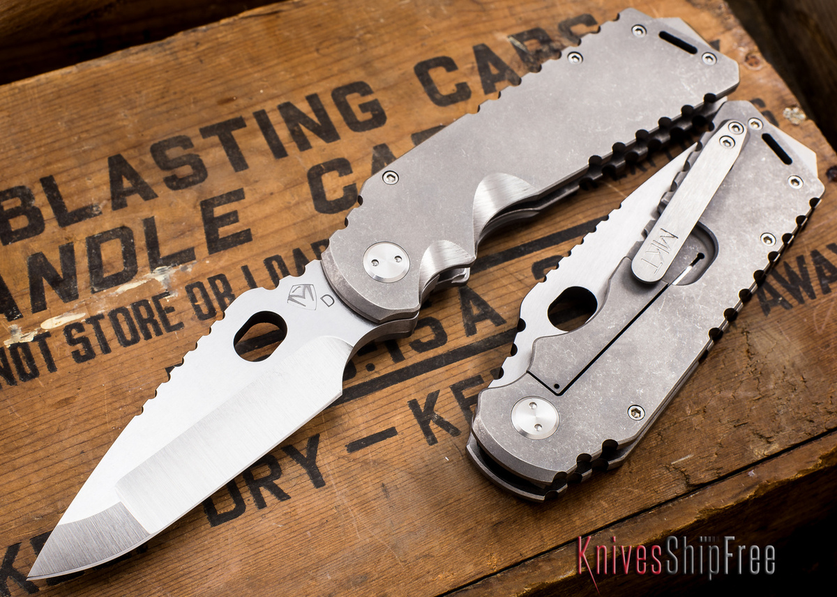 Medford Knife & Tool: Arktika - Tumbled Titanium - Tumbled Finish primary image