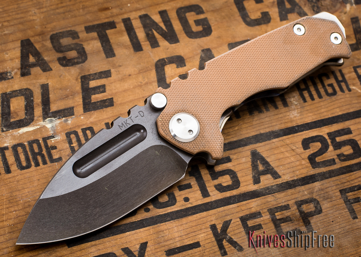 Medford Knife & Tool: Micro Praetorian G - Coyote G-10 / Flamed Ti - Tumbled Oxide Finish - 062909 primary image