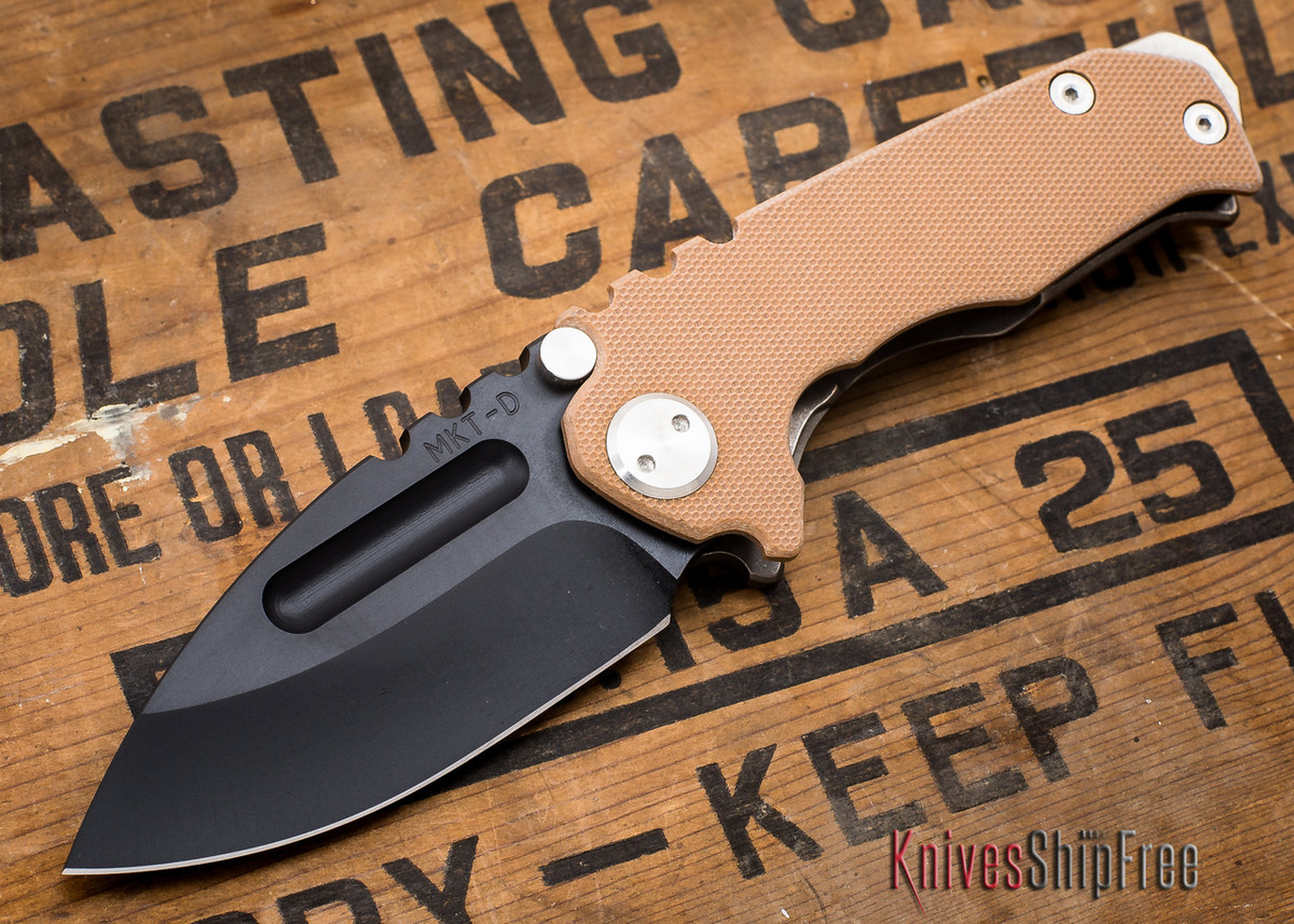 Medford Knife & Tool: Micro Praetorian G - Coyote G-10 / Flamed Ti - Black PVD - 062904 primary image