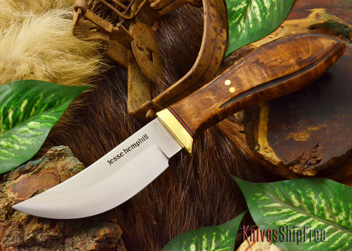 Jesse Hemphill Knives: DeKalb Series - High Falls - Dark Curly Maple primary image