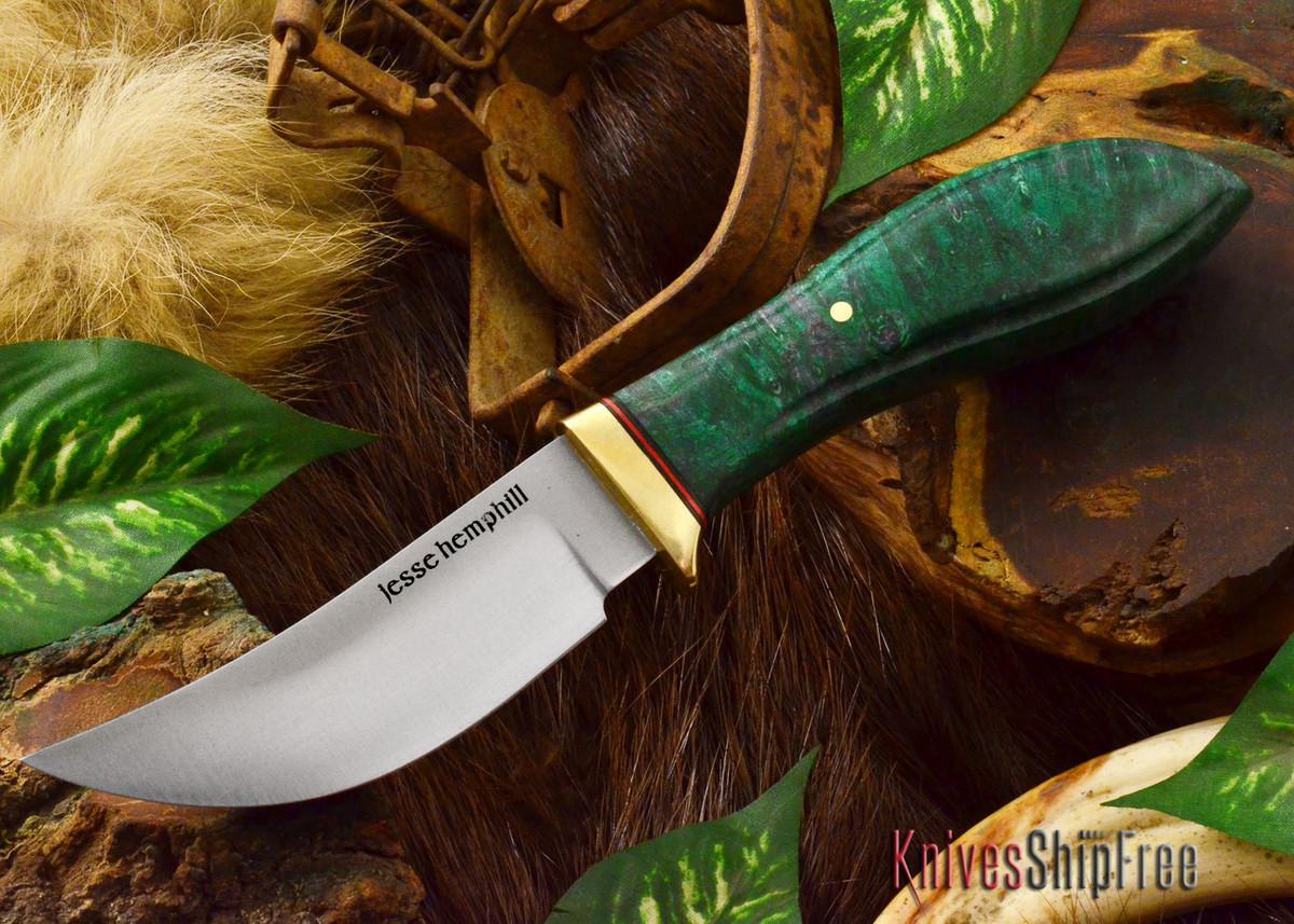 Jesse Hemphill Knives: DeKalb Series - High Falls - Green Elder Burl - #4 primary image