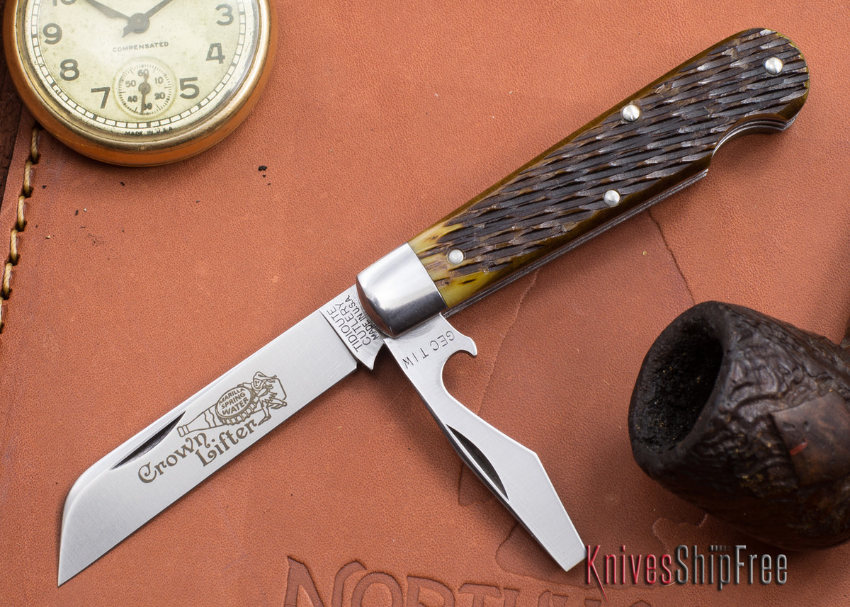 Great Eastern Cutlery: #15 - Tidioute - Crown Lifter - Antique Yellow Jigged Bone primary image