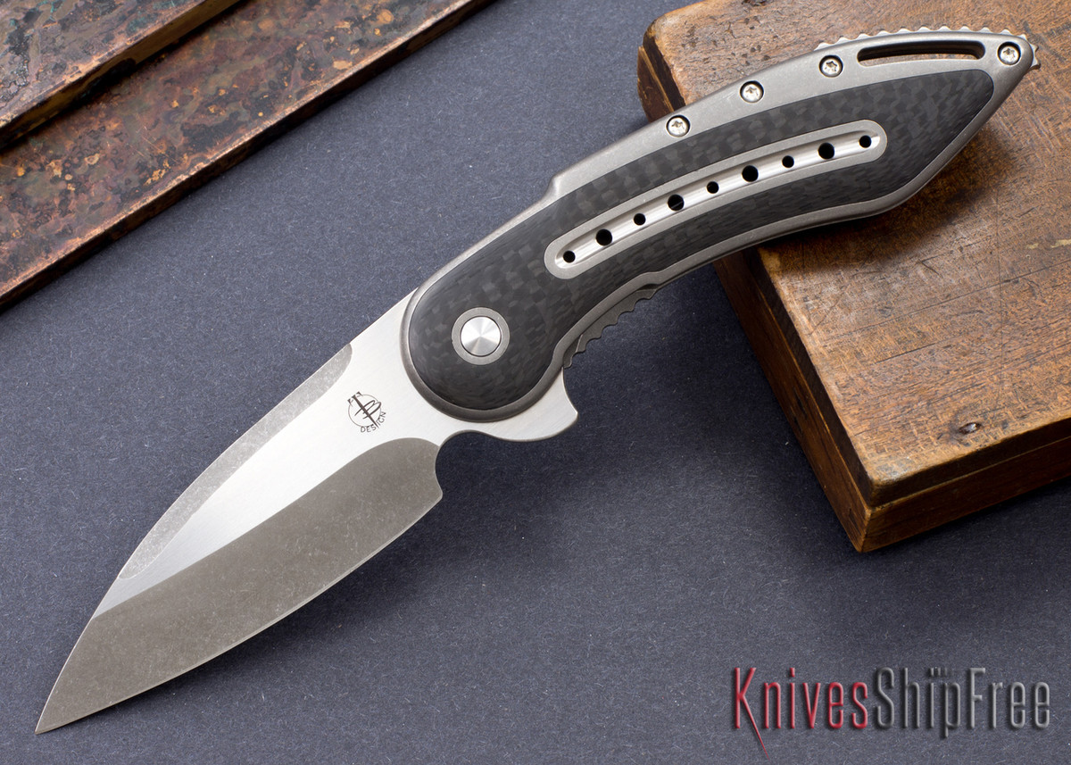 Todd Begg Knives: Custom Glimpse 6.0 - Carbon Fiber Inlay - Swedge Blade - 120911 primary image