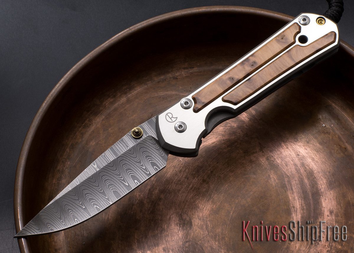 Chris Reeve Knives: Large Sebenza 21 - Thuya Burl - Ladder Damascus - 010615 primary image