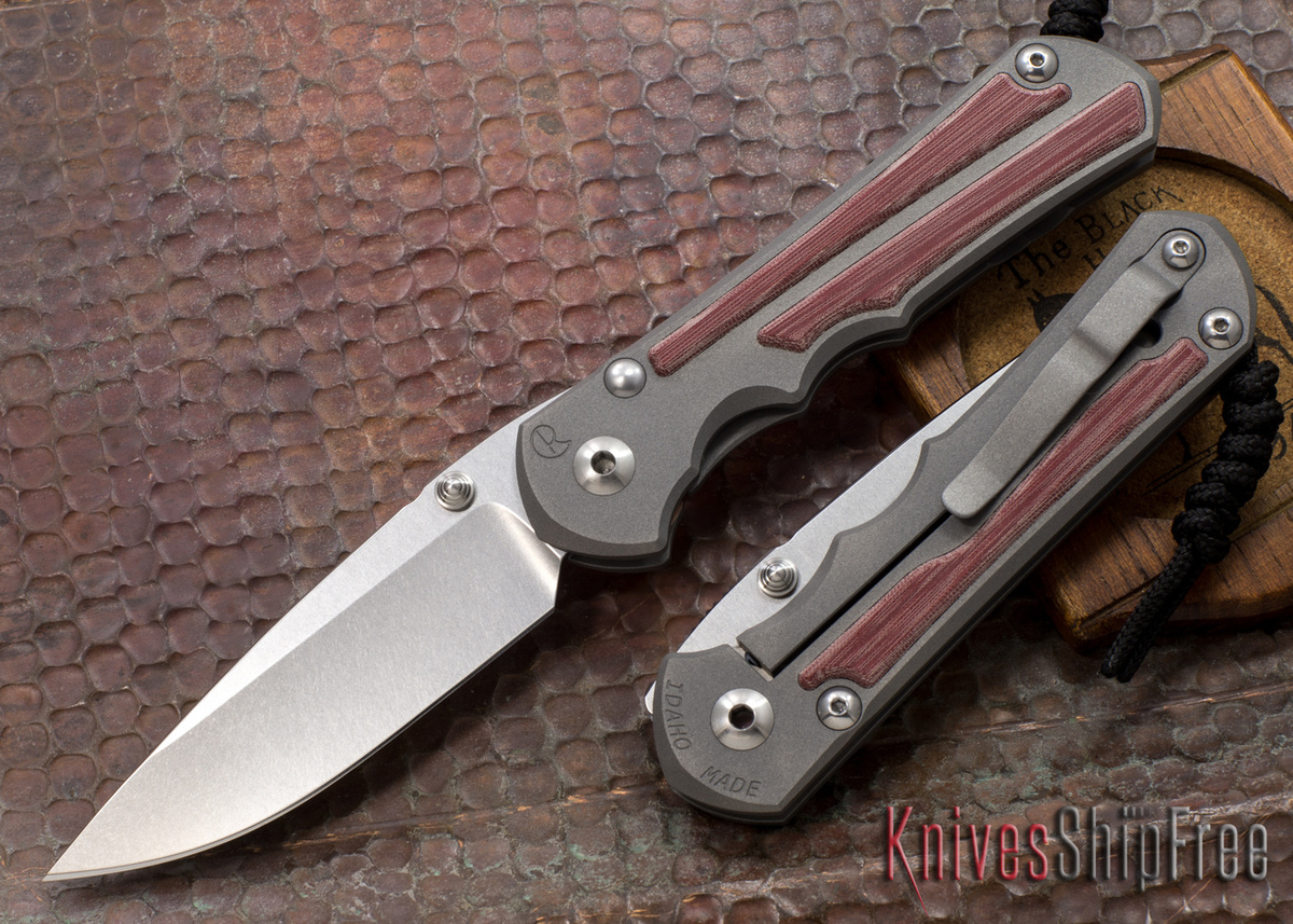 Chris Reeve Knives: Large Inkosi - Red Linen Micarta Inlay primary image