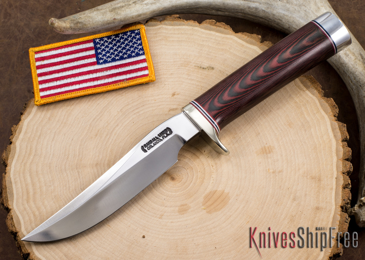 Randall Made Knives: Model 3-5 Hunter - Red & Blue Micarta primary image