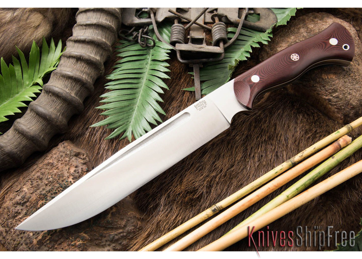 [RESERVED] Preorder - Maroon Linen Micarta - White Liners (JO 3/15) primary image
