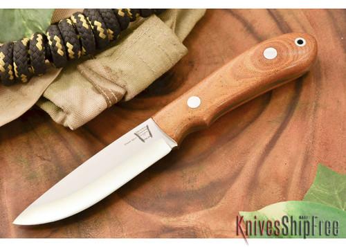 Hyken Knives: Bushcrafter CPM-154 - Natural Canvas Micarta