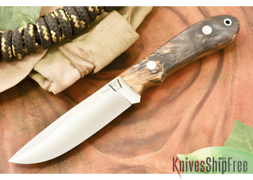 Hyken Knives: Lite Hunter CPM-154 - California Buckeye Burl #2