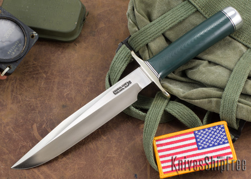 Randall Made Knives: Model 5-7 Fighter - Turquoise Micarta - Stainless Steel
