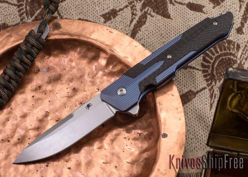 Spartan Blades: Kranos - Blue Anodized Titanium - Carbon Fiber