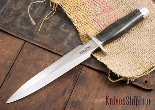 Randall Made Knives: Model 2-8 Fighting Stiletto - Black Micarta - 120911