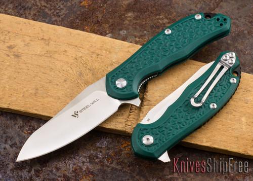Steel Will Knives: Modus - Green FRN - D2 Steel