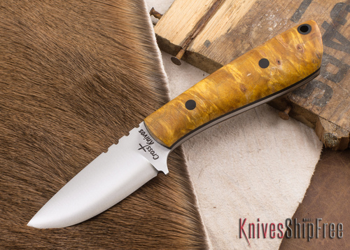Cross Knives: Necker - Dyed Maple - Black Liners - A2 Steel - 022601