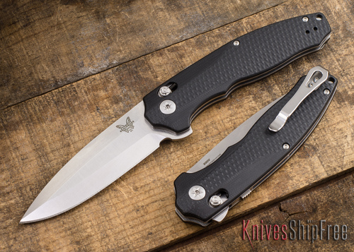 Benchmade Knives: 495 Vector - AXIS Assist Flipper - CPM-S30V - Black G-10