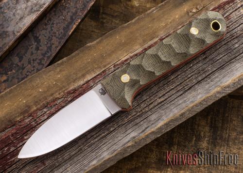 L.T. Wright Knives: Next Gen - Green Mountain Micarta - Orange Liners