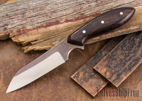 Carter Cutlery: Muteki #1321 Wharncliffe - Ironwood - Red Liners