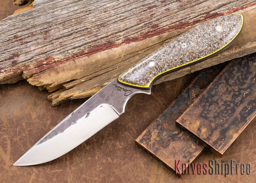 Carter Cutlery: #1255 Original - Corian - Yellow & Natural G-10 Liners