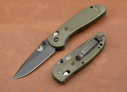 Benchmade Knives: 551BKOD Griptilian - Modified Drop Point - Olive Drab