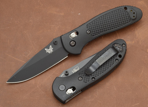 Benchmade Knives: 551BK Griptilian - Modified Drop Point - Black