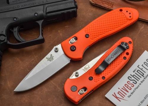 Benchmade Knives: 551ORG Griptilian - Modified Drop Point - Orange