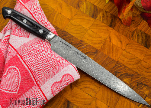"""Kramer by Zwilling: Euroline - 9"""" Carving Knife - Stainless Damascus Collection"""
