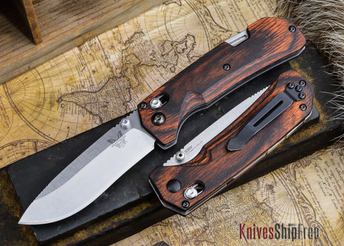 Benchmade Knives: 15060-2 HUNT - Grizzly Creek - Drop Point - Stabilized Wood