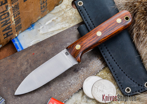 L.T. Wright Knives: Genesis - Desert Ironwood - Flat Ground - A2 Steel - #47