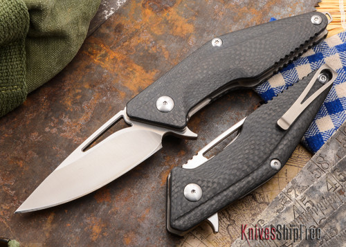 Brous Blades: Mini Division Flipper - Carbon Fiber - Satin Finish