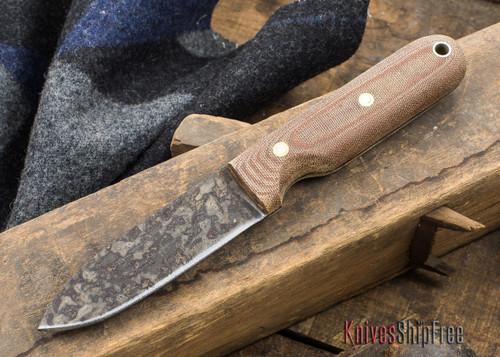 L.T. Wright Knives: Bushcrafter HC - Natural Micarta