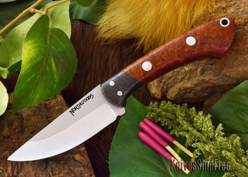 Northwoods Knives: Iron River - Amboynia Burl