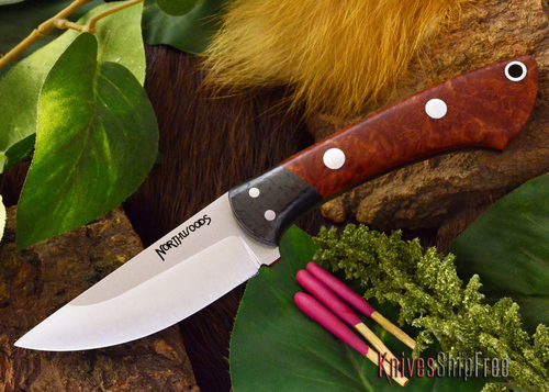 Northwoods Knives: Iron River - Amboynia Burl - Red Liner